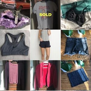 A bunch of clothes & jewelry